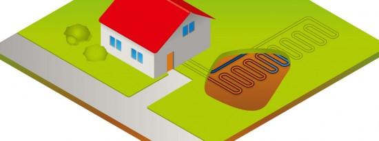 Geotermikus energiával fűtött ház